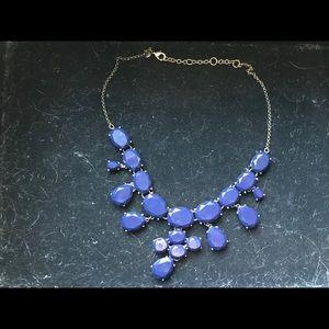 Navy J Crew Factory jeweled necklace